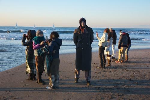 cold morning on Kamakura beach
