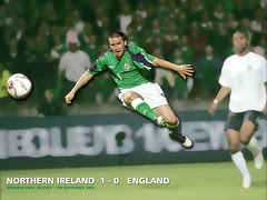 England's Tormentor David Healy was at it again last night