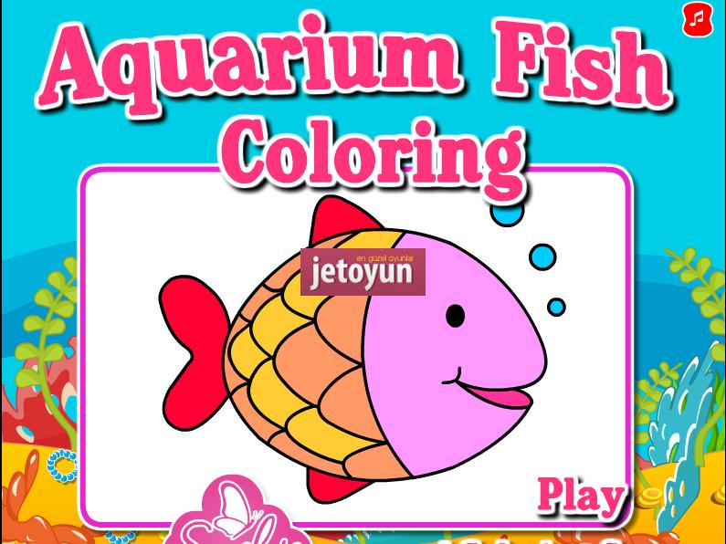 Akvaryum Balığı Boyama Oyunu Oyna Boyama Oyunları