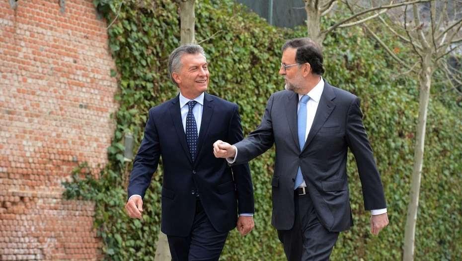 Macri y Rajoy acordaron impulsar la alianza entre el Mercosur y la Unión Europea