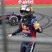 Sebastian Vettel celebrated after winning the India Formula One Grand Prix.