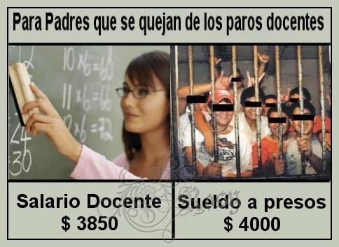 Resultado de imagen para sueldo de los presos k