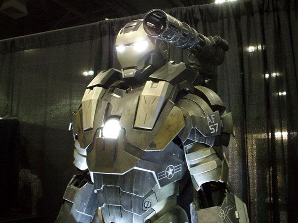 War Machine (from IRON MAN 2) on display at Stan Lee's Comikaze Expo in downtown Los Angeles, on November 2, 2013.