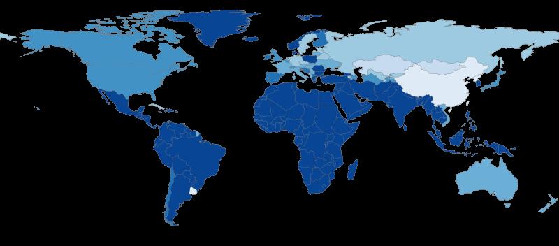 Diffusione della religione nel mondo