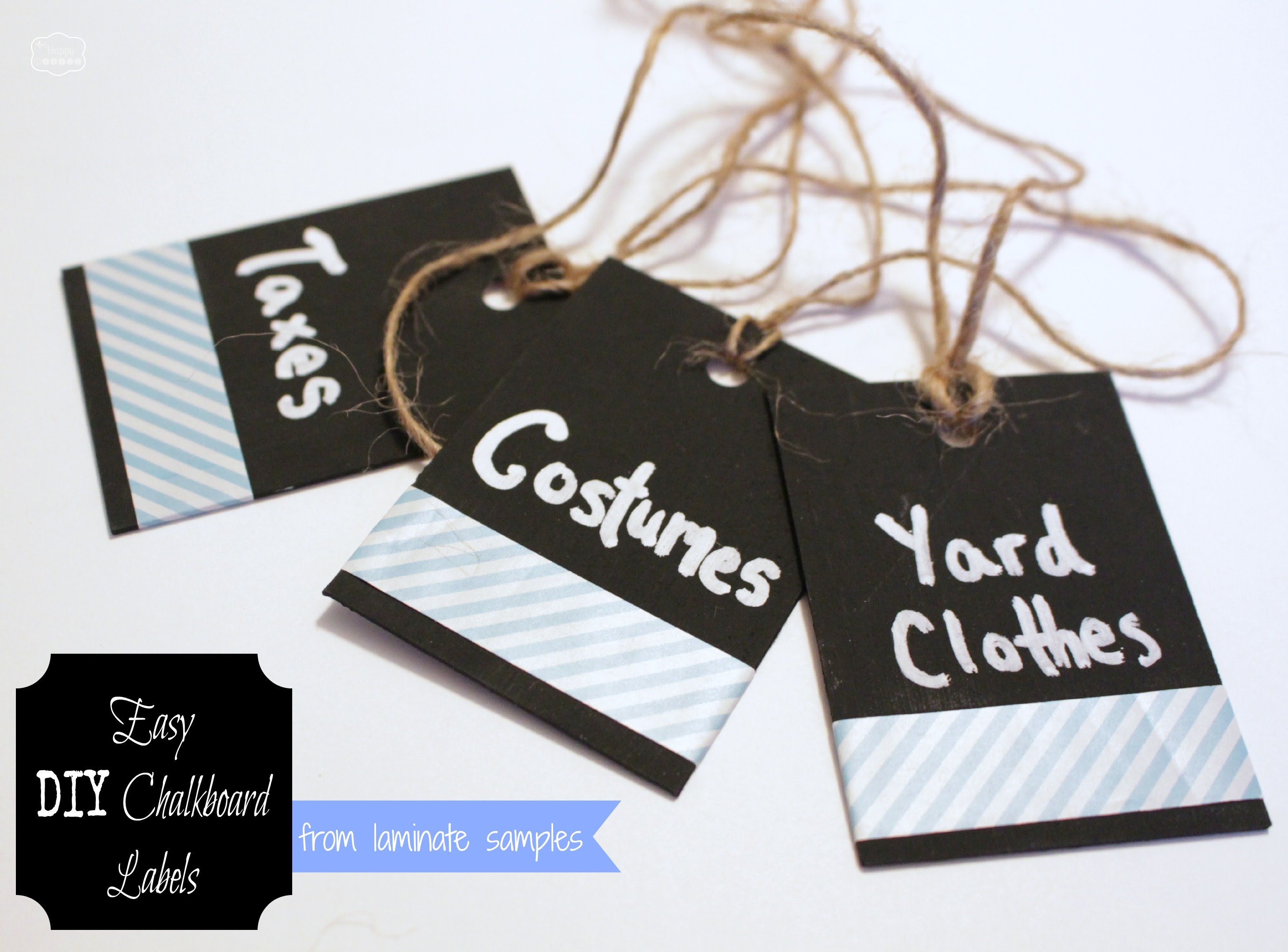 http://thehappyhousie.com/wp-content/uploads/2014/01/Easy-DIY-Chalkboard-Labels-from-laminate-samples-at-The-Happy-Housie.jpg