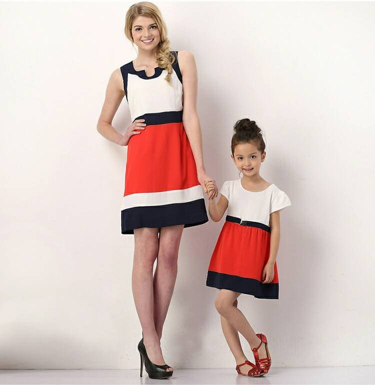 made to order custom mother daughter matching dresses