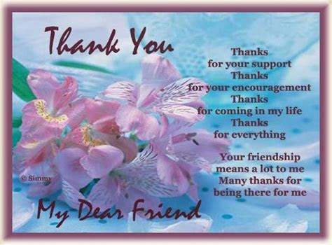 Thank You My Dear Friend Pictures, Photos, and Images for