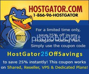 Save 25% off on HostGator Hosting Plans!