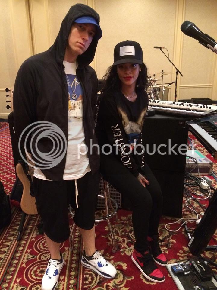 Snapshots: Rihanna & Eminem rehearse for 'The Monster' tour...