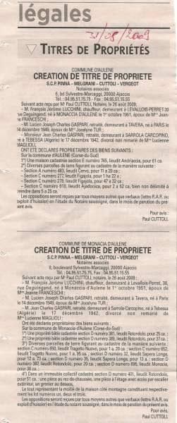 Titre Propriété Gaspari Lucchini