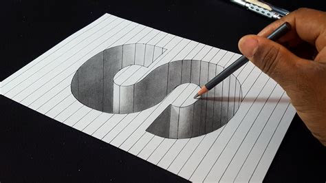 draw  letter  hole shape easy  drawings