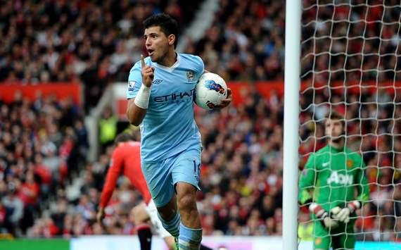 EPL - Manchester United v Manchester City , Sergio Aguero