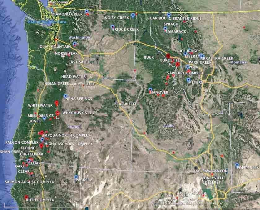 Dozens Of Active Wildfires In The Northwest U S