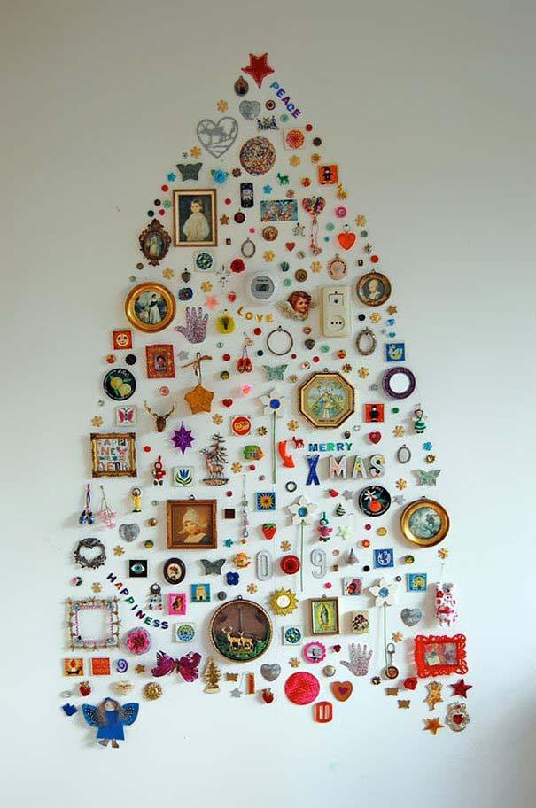 DIY Χριστουγεννιάτικα δέντρα (18)