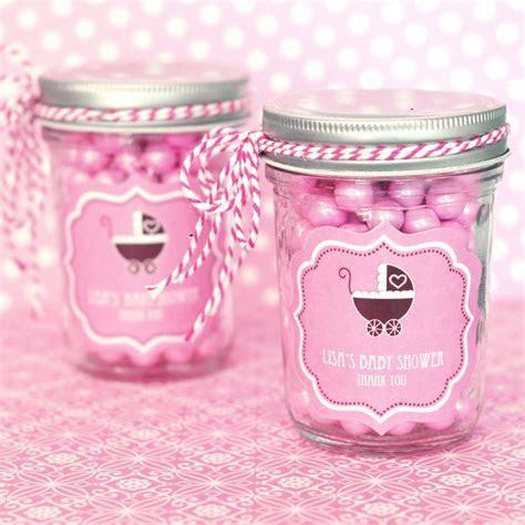 Pink Baby Shower Personalized Mini Mason Jars
