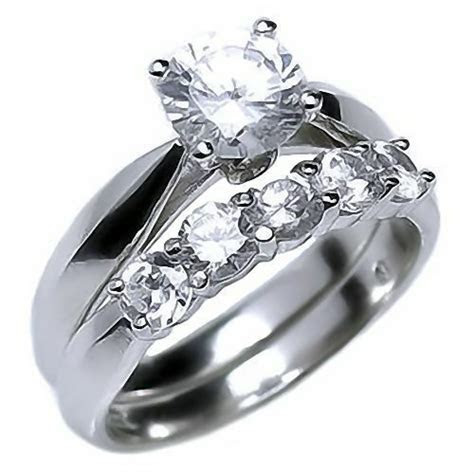 2.1ct Russian Ice on Fire CZ 5 Stone Engagement Wedding