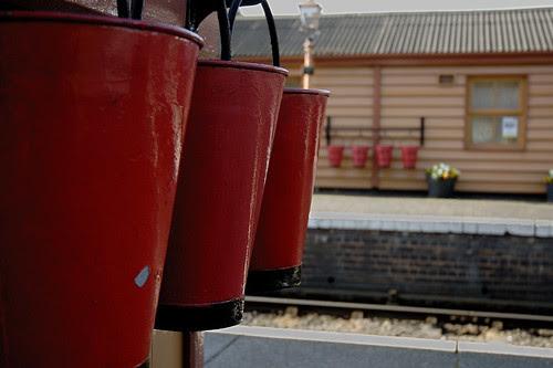 Bewdley station fire buckets