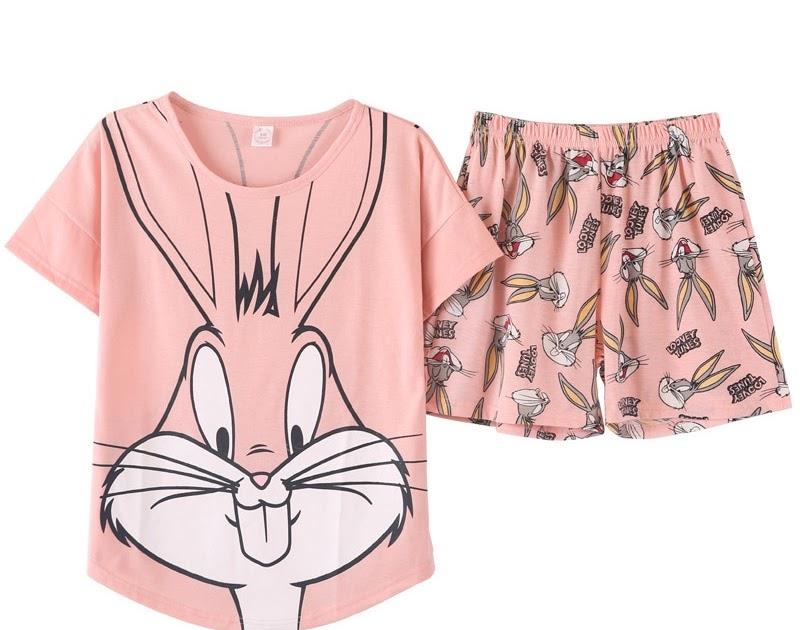 37ede83923d983 Comprar Pijamas De Algodão 100% Das Mulheres 2018 Novos Bugs Bunny ...