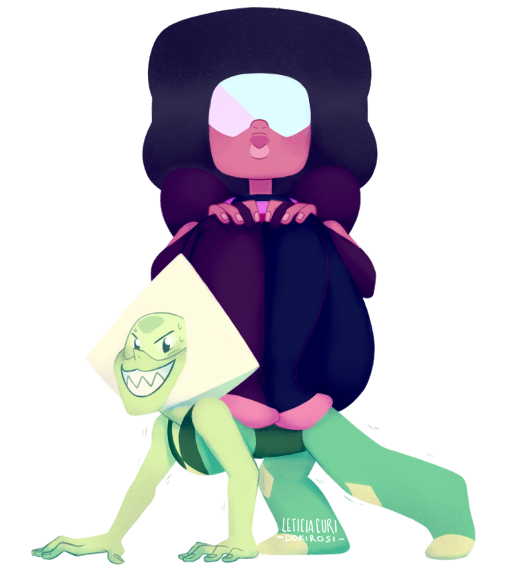 👽 Nyeheheeheh 👽 the main objective is to get Garnet off the floor! then Peri's arms give up, Garnet falls on her, and that's how Peridot get her star. I mean, Garnet poofed her once, she has enough...