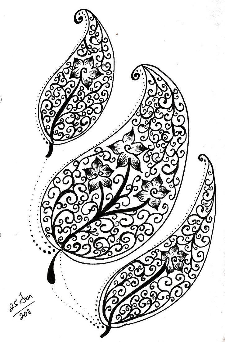 Gambar Doodle Bunga Mawar