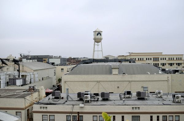A snapshot of Paramount Pictures as seen from the Gower parking structure across the street...on July 31, 2017.