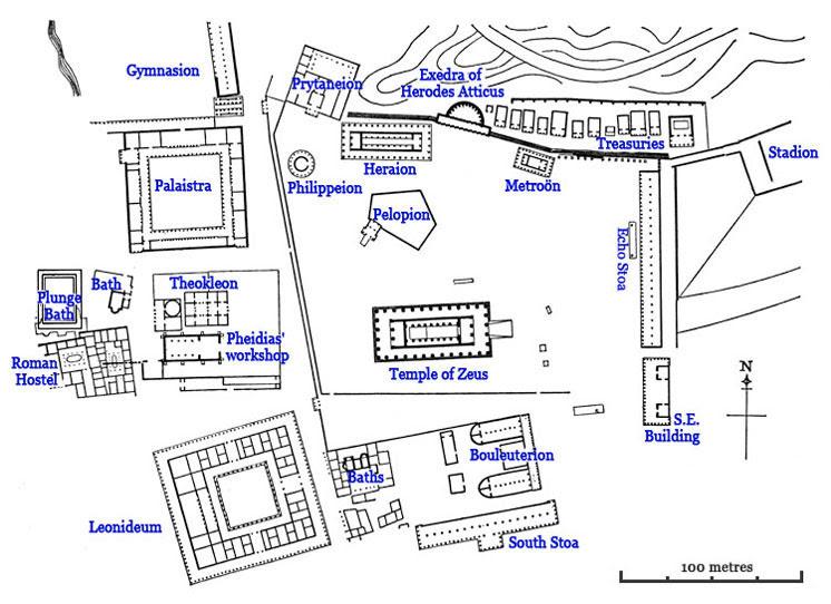 Plan of the Altis