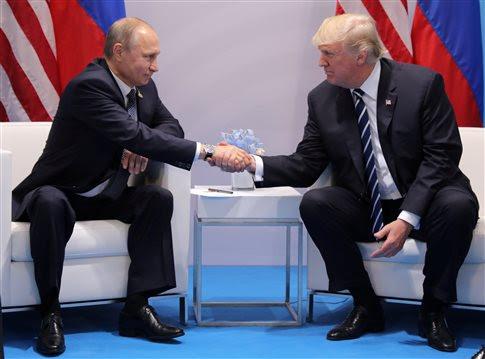Αποτέλεσμα εικόνας για Σε εξέλιξη η πρώτη συνάντηση Τραμπ - Πούτιν