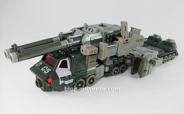 Transformers Onslaught Universe Deluxe - modo alterno de batalla