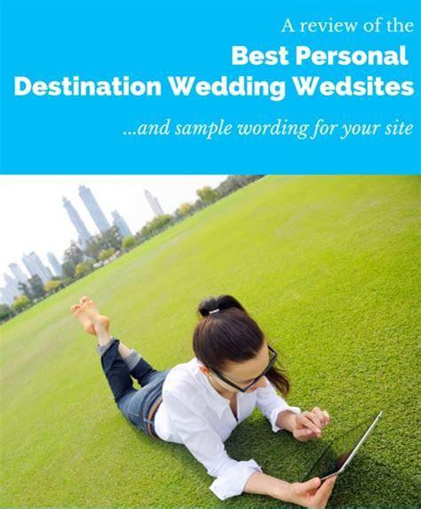 The Best Destination Wedding Website  Reviews & Examples