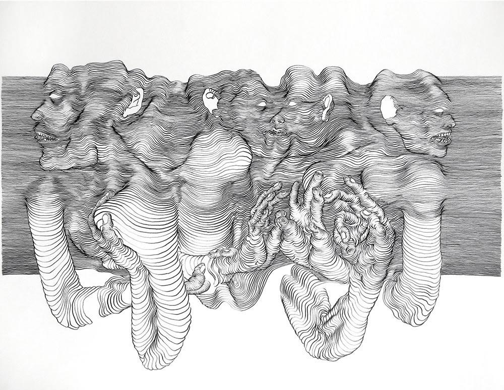 3d Pencil Line Drawing - XciteFun.net