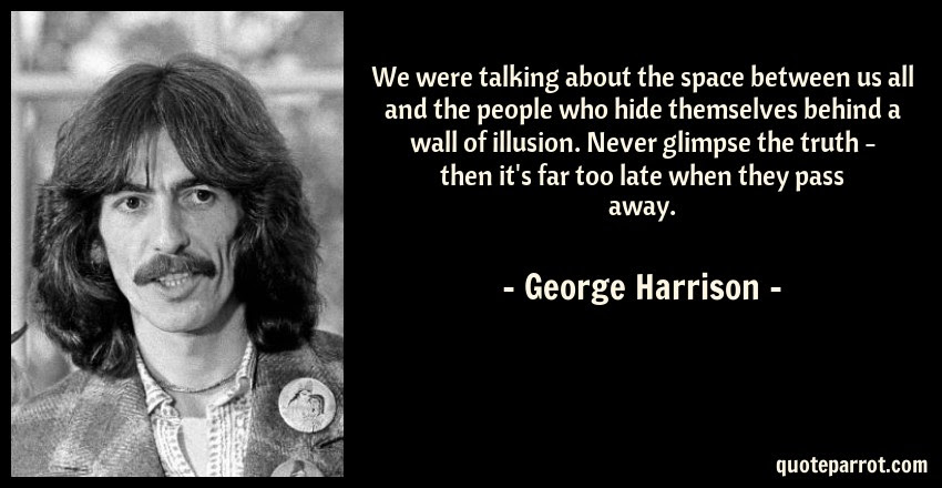 We Were Talking About The Space Between Us All And The By George