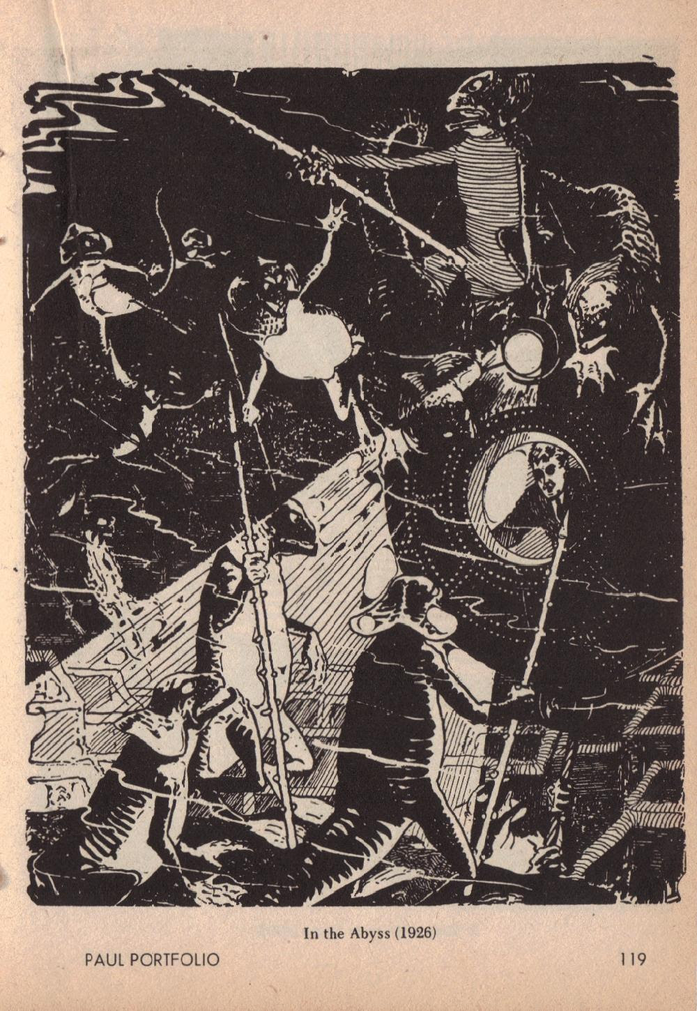 Frank R Paul - H.G. Wells Illustrations (Published in Amazing Stories,April 1966, page 119