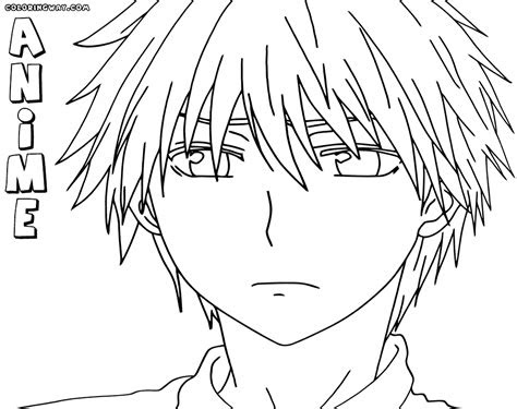 anime boy coloring pages coloring pages