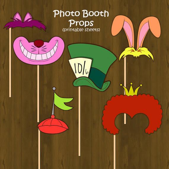 Alice In Wonderland Printable Diy Photo Props Splashbox Printables