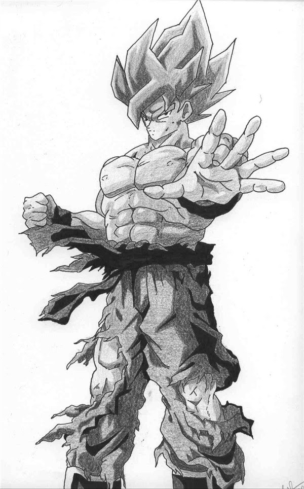 Image Dragon Ball Image Dragon Ball Noir Et Blanc