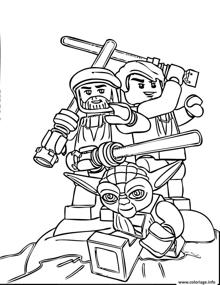 Coloriage Star Wars Lego Team Jecoloriecom