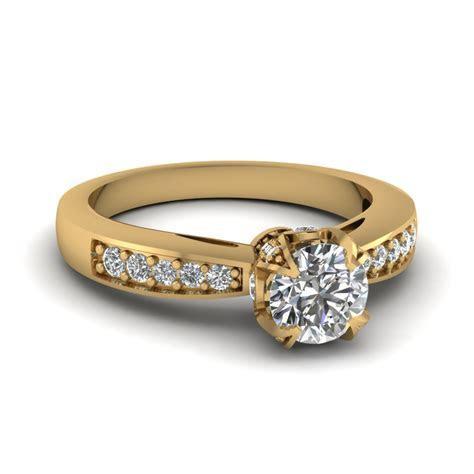 Women s Yellow Gold Diamond Rings   Wedding, Promise