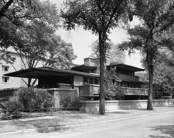 Robie House en Chicago   Frank Lloyd Wright   Prairie style   Floor plan