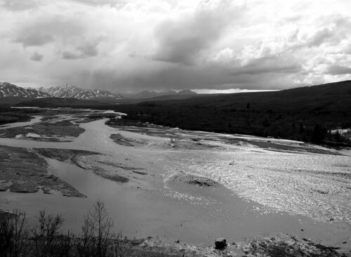 Savage River -- Denali National Park (BW) by RV Bob