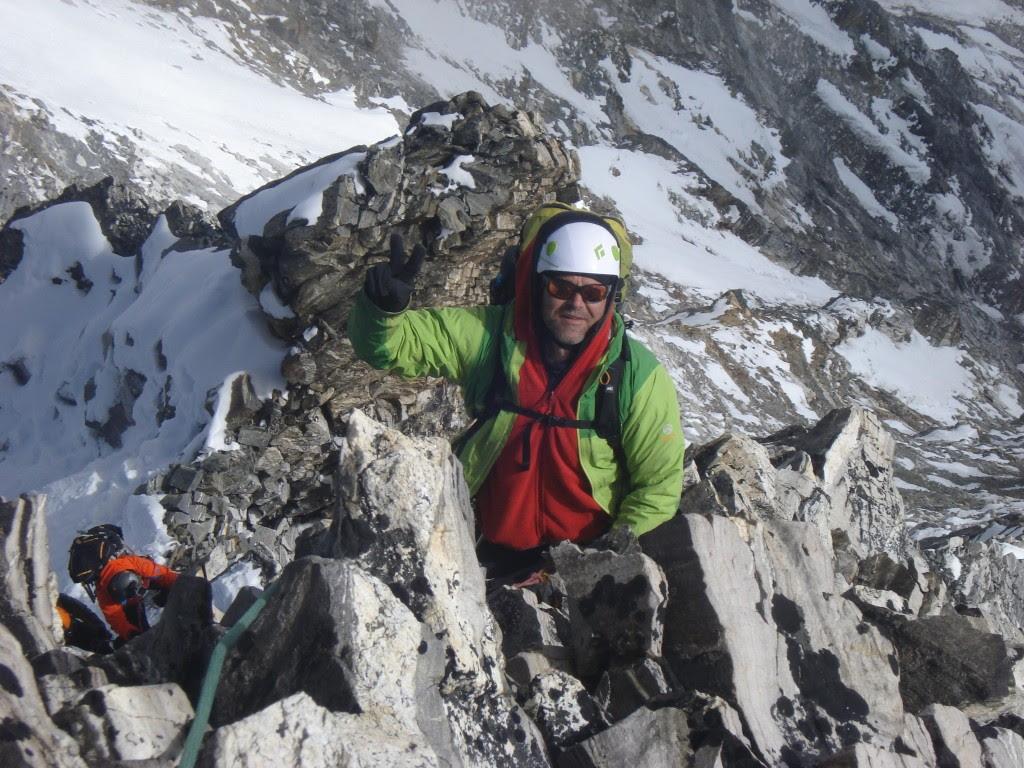 Canadian Dean posing on the ridge