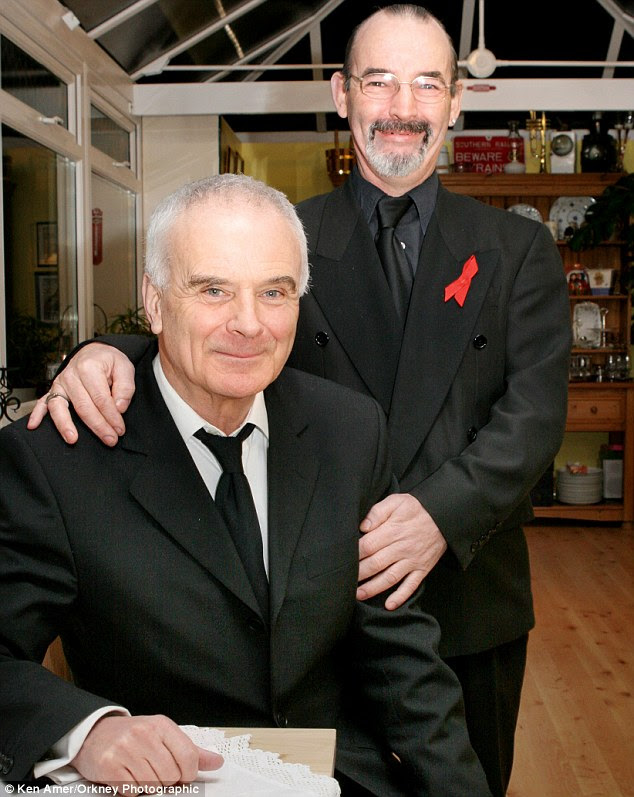 Discord: Sir Peter Maxwell-Davies, left, and partner Colin Parkinson are in dispute after a ten-year relationship
