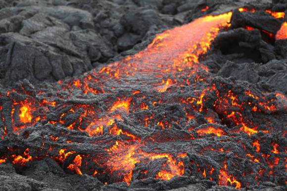 Lava cooling after an eruption, Credit: kalapanaculturaltours.com