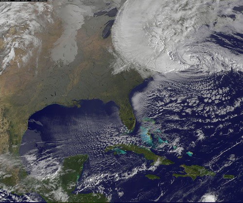 Satellite View of Hurricane Sandy on Oct. 29