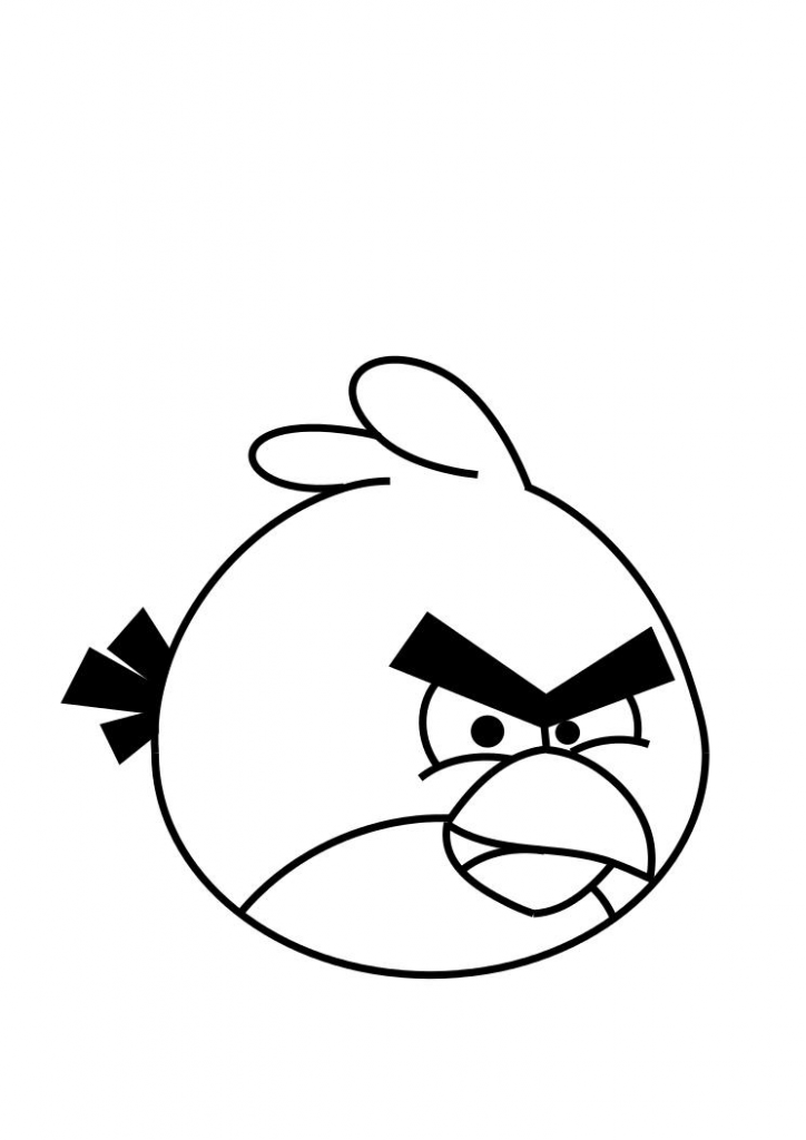 Coloring Pages For Angry Birds 724x1024