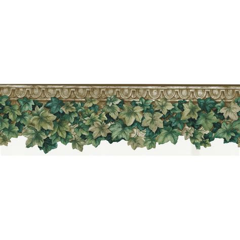 shop allen roth   green ivy die cut prepasted