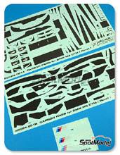 Tramas de carbono en calca 1/24 Racing Decals 43 - BMW M3 - DTM para kits de Revell REV07178 y REV07082