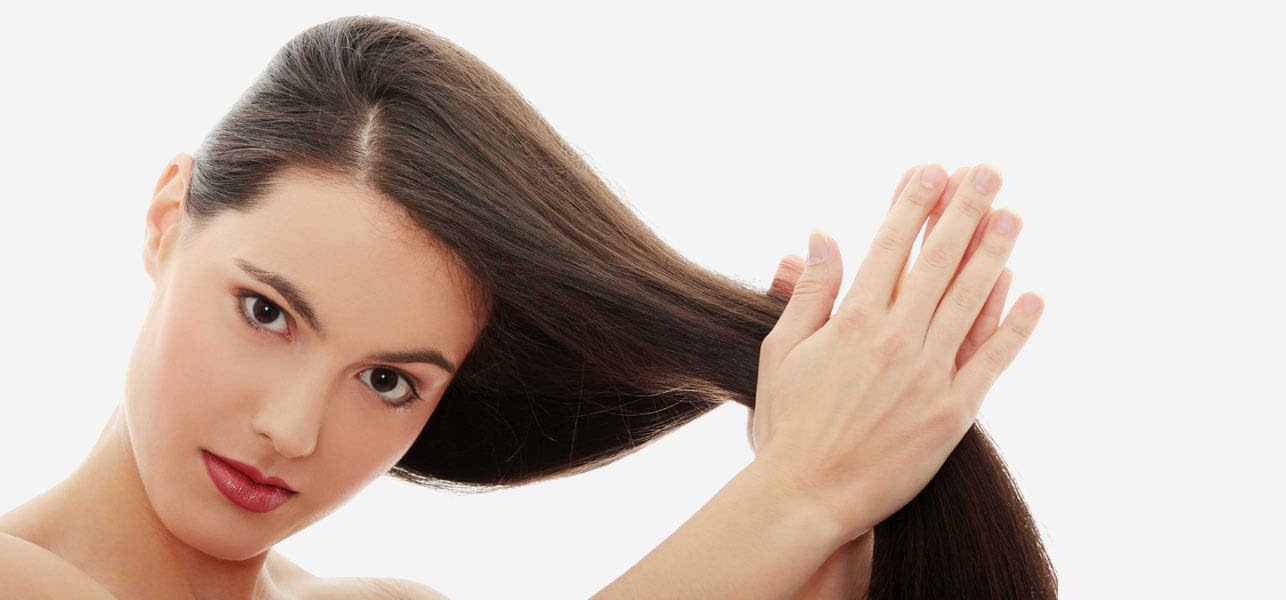 Image result for applying hair oil