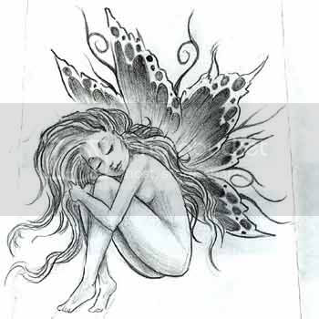 Designs For Drawing. fairy tattoo design drawing