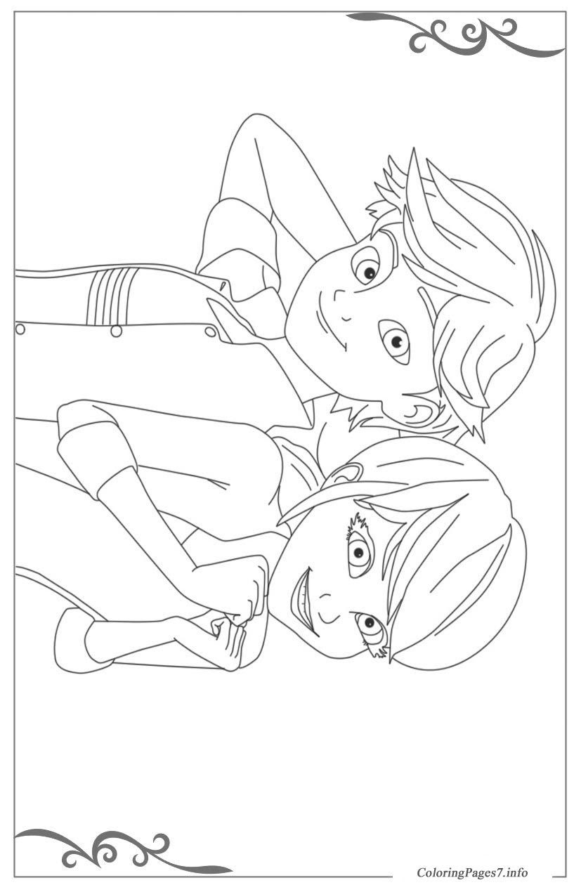 Cat Noir Coloring Page at GetColorings.com | Free ...
