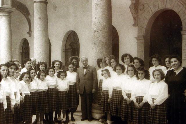 Alexander Fleming en el Hospital Tavera de Toledo. Foto Rodríguez